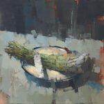 Plate with Asparagus